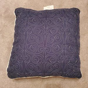 Decorative Pillow with Embroidered Scrollwork